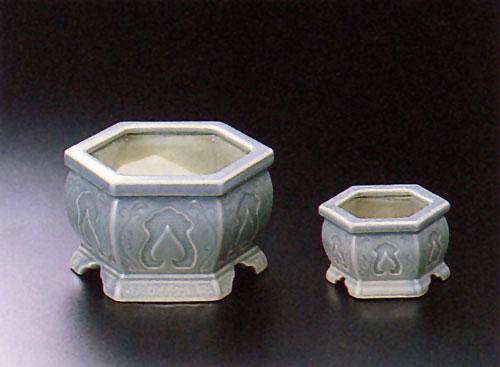 香炉セット 青磁(せいじ)の写真