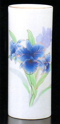 花立て 青カトレアの写真