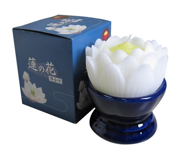 ローソク 蓮の花(台付)の写真