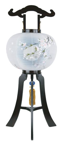 盆提灯 京提灯 桜[黒檀調](1台)の写真
