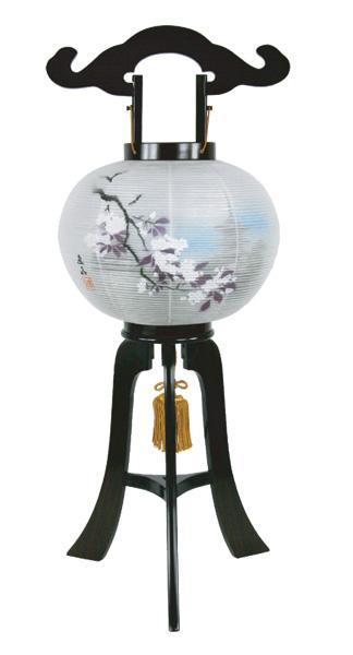 盆提灯 五重の塔9寸[黒檀調](1台)の写真