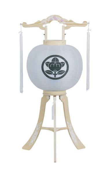 神道用提灯 白峰灯袋紋入(一重一尺・無地)の写真