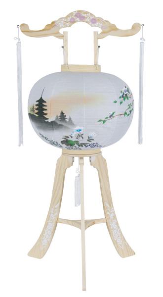 白木製蛇腹京提灯 白峰二尺五重の塔1台の写真