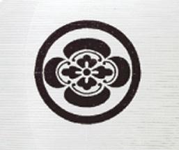 吊提灯 特三丸家紋入絹(1台)の写真