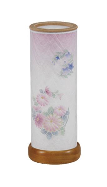 民芸灯 桔梗と菊(1台)の写真