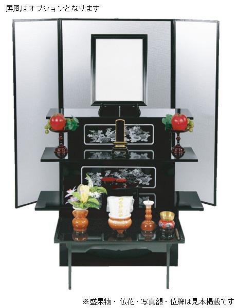 盆棚 CE黒セット(菊柄黒塗)の写真