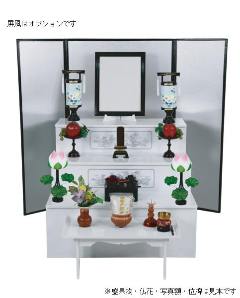 盆棚 CESS白セット(木製・菊柄白塗)の写真