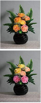 LEDで光る造花 ルミナスローズNo.2(1台)の写真