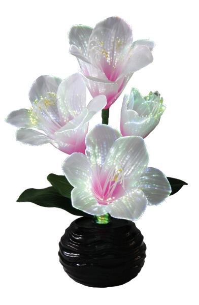 LEDで光る造花 ルミナス君子蘭(1台)の写真