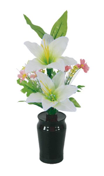 LEDで光る造花 小型ルミナスコードレス百合(1台)の写真