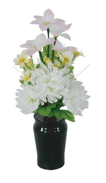 LEDで光る造花 小型ルミナスコードレス菊(1台)の写真