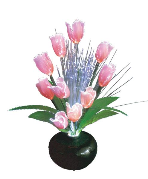 LEDで光る造花 ルミナスチューリップ(1台)の写真