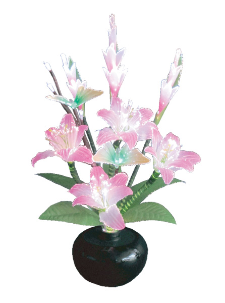 LEDで光る造花 ルミナスグラジオラスNo.1【ピンク】(1台)の写真