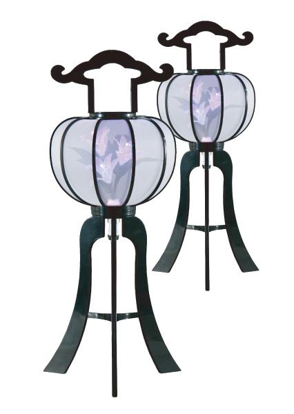 LED灯籠 ルミナス秋月灯 2号黒(1対)の写真