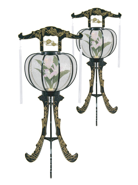 LED灯籠 ルミナス松山灯黒(1対)の写真