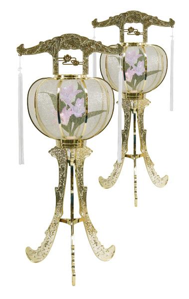 LED灯籠 ルミナス松山灯ゴールド(1対)の写真