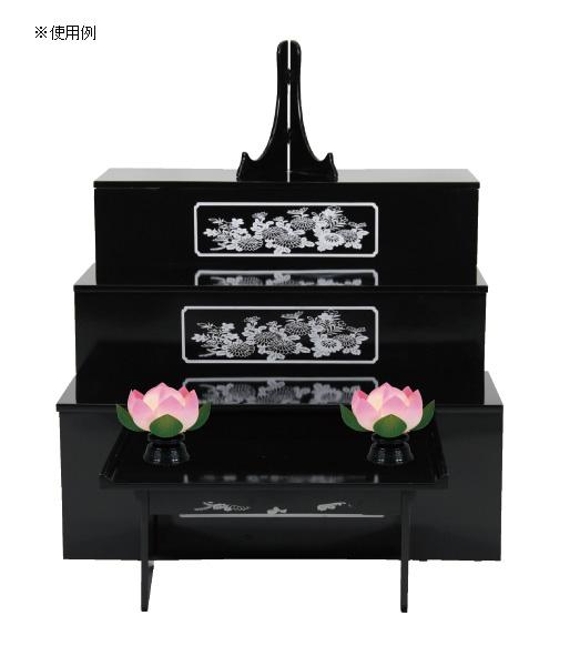 盆棚を飾る造花 蓮華一灯 青ボカシ(1対)の写真