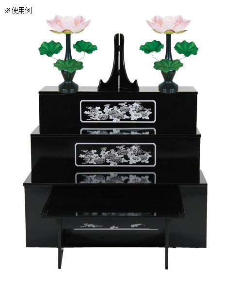 盆棚を飾る造花 蓮華シルク 青ボカシ[3枚葉](1対)の写真
