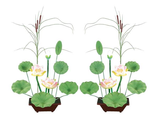 盆棚を飾るLED造花 永遠の風ルミナス(1対)の写真