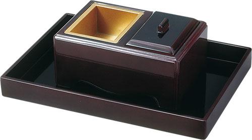 焼香セット 角香炉ノンスリップ[タメ]の写真