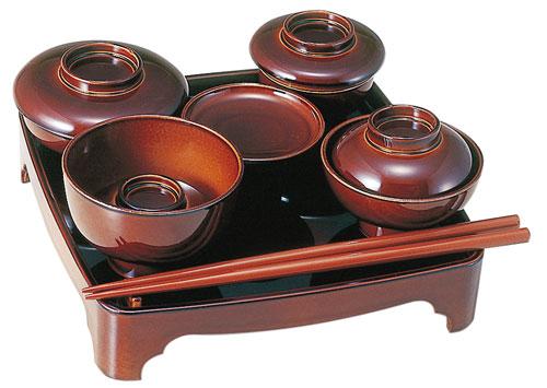 現代仏膳[ブラウン]5.5寸の写真