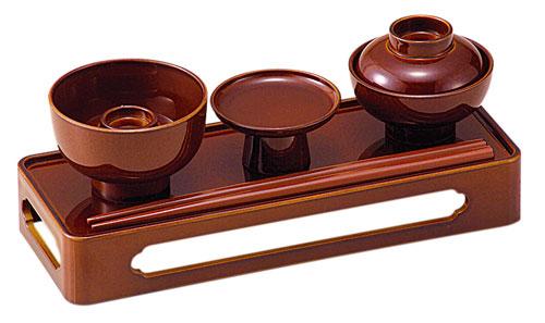 略式仏膳[ブラウン](サイズ2種類)の写真