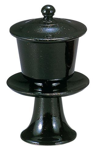 茶湯器[黒金梨地](サイズ3種類)の写真
