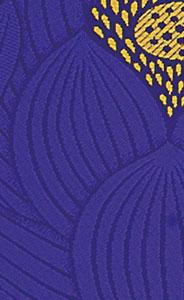 御前座布団カバー[ハス紫]の写真