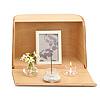 やさしい時間 祈りの手箱【ナチュラル】[ガラス製三具足・写真立・線香・灰・ローソクが付属]の写真
