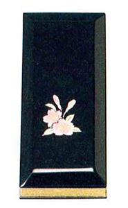 黒塗蒔絵過去帳[蓮花](サイズ5種類)の写真