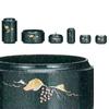 仏具セット 昴6点セット[ぶどう彫金入・紫紺色](サイズ2種類)の写真