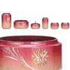 仏具セット 昴6点セット[菊花火彫金入・杏色](サイズ2種類)の写真