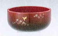 リン 善祐リンセット[梅にウグイス彫・ワイン金彩色](サイズ3種類)の写真