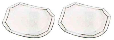 供物台 信楽焼反供物台[白窯面取り]1対の写真