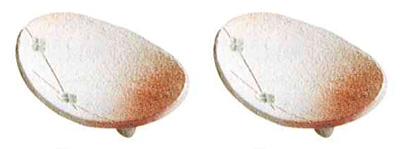 供物台 信楽焼反供物台[円空丸型・雪肌火色]1対の写真