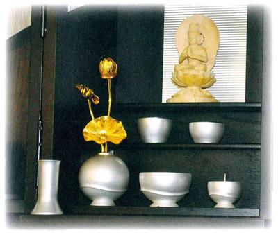 仏具セット 遊6点セット[真珠]の写真