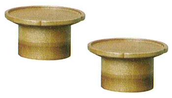 モダン供物台 木製花型高月[チーク]1対の写真