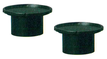 モダン供物台 木製花型高月[黒檀色]1対の写真