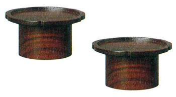 モダン供物台 木製花型高月[紫檀色]1対の写真