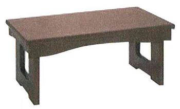 モダン経机 花台兼用折りたたみ式御供机�V[ウォールナット調](サイズ4種類)の写真