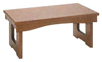 モダン経机 花台兼用折りたたみ式御供机�V[ケヤキ調](サイズ4種類)の写真