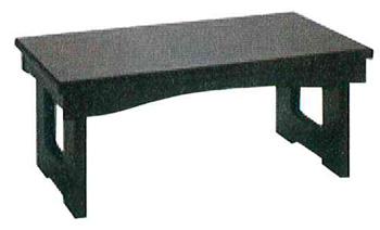 モダン経机 花台兼用折りたたみ式御供机�V[黒檀調](サイズ4種類)の写真