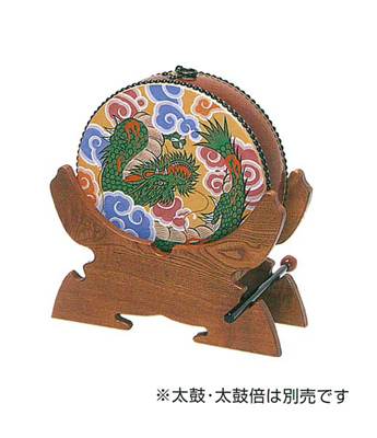 せん法太鼓置台(朱塗・黒塗又は栓)の写真