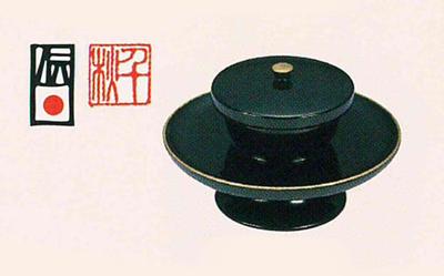 蓋付背短茶台(サイズは3種類)の写真