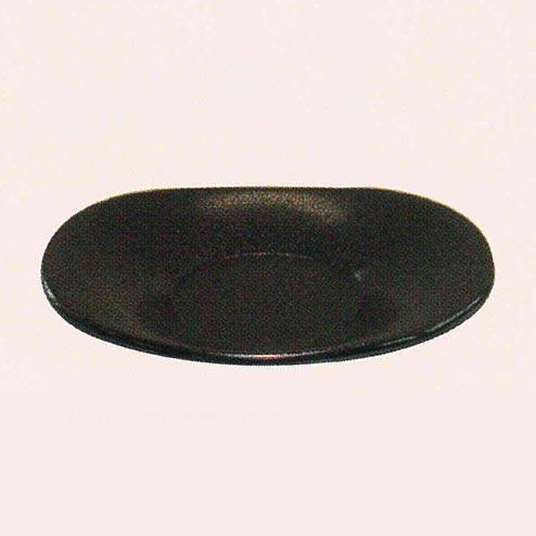 越前塗 小判型茶托[茶乾漆塗][5枚入]の写真