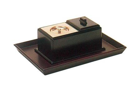 ルーツ型廻し香炉セット(オトシ蓋付)の写真