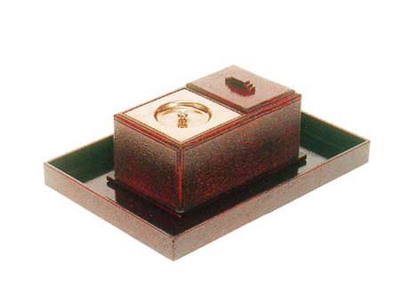 ルーツ型廻し香炉セット【漆好塗】(オトシ蓋付)の写真
