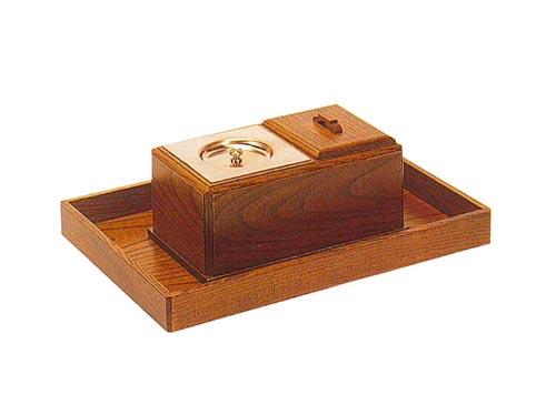 ルーツ型廻し香炉セット【欅】(オトシ蓋付)の写真