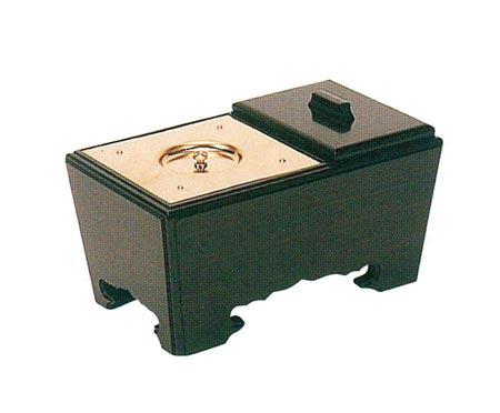 角香炉[黒檀](オトシ蓋付)サイズは3種類の写真