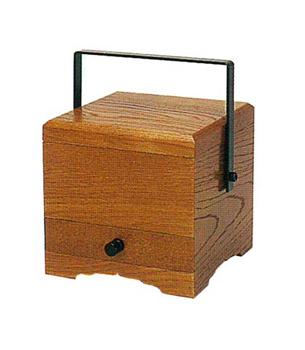 角型手提香炉[栓](オトシ蓋付)4寸の写真